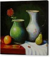 Fruit And Pots. Canvas Print