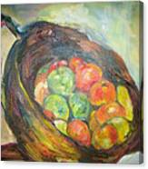 Fruit Basket And Wine Canvas Print