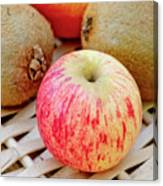 Fruit Basket. Apple. Canvas Print