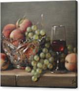 Fruit In A Crystal Bowl Canvas Print
