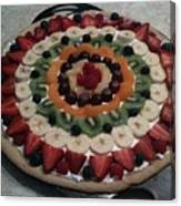Fruit Pizza Canvas Print
