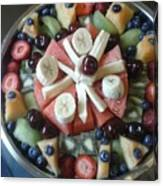 Fruit Spiral Canvas Print