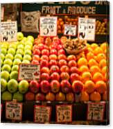 Fruit Stand Canvas Print