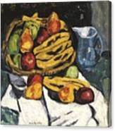 Fruit Still Life By Marsden Hartley Canvas Print