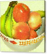 Fruit Still Life Stained Glass Canvas Print