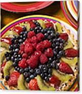 Fruit Tart Pie Canvas Print