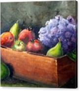 Fruit With Hydrangea Canvas Print