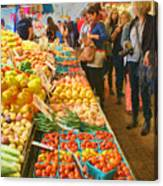 Fruits And Vegetables - Pike Place Market Canvas Print