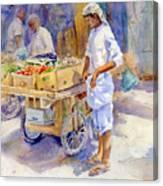 Fruitseller Jeddah Canvas Print