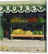 Frutas Y Canvas Print