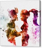 Fry And Leela Canvas Print