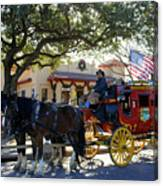 Ft Worth Stockyards Stagecoach  Canvas Print