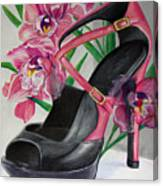 Fuchsia Orchid Colour Block Canvas Print