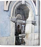 Fuente Castro Urdiales Canvas Print