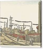 Fukagawa Bedrijventerrein  Maekawa Senpan  1945 Canvas Print