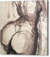 Full Figure - Sketch Of A Female Nude Canvas Print