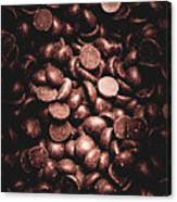 Full Frame Background Of Chocolate Chips Canvas Print