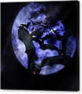 Full Moon Bats Canvas Print