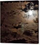Full Moon Cloudy Night Canvas Print