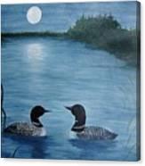 Full Moon Loon Canvas Print