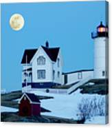 Full Moon Nubble Canvas Print
