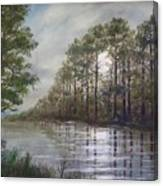 Full Moon On The River Canvas Print