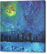 Full Moon Over Watercity Canvas Print