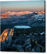 Full Moon Set Over Desolation Wilderness Canvas Print