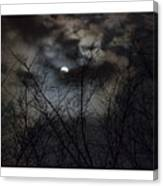 Full Moon With Clouds Canvas Print