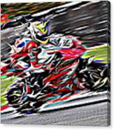 Fullspeed On Two Wheels 6 Canvas Print