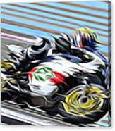 Fullspeed On Two Wheels 7 Canvas Print