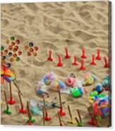 Fun At The Beach Canvas Print