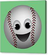 Fun Baseball Character Canvas Print