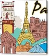Fun Food And Folly In Paris Canvas Print