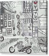 Fun Time In Jerome Az Canvas Print