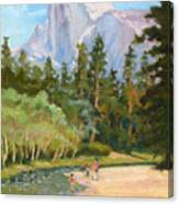 Fun Under Half Dome Canvas Print