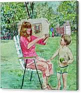 Fun With Grandma Canvas Print