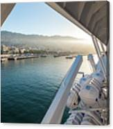 Funchal By The Ship Canvas Print