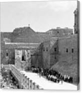 Funeral Procession In Bethlehem During 1934 Canvas Print