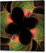 Funky Clover Canvas Print