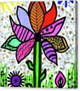 Funky Flower Mod Pop Canvas Print