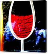 Funky French Red Wine Glass Canvas Print