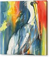 Funky Pelican Canvas Print