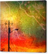 Funky Sunset Canvas Print