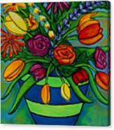 Funky Town Bouquet Canvas Print