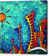 Funky Town Original Madart Painting Canvas Print