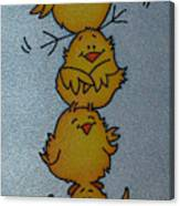 Funny Chickens Canvas Print