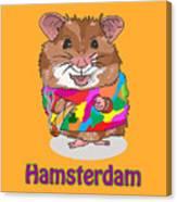 Funny Design Illustration Puns Hamsterdam The Wire Canvas Print