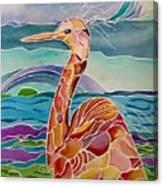 Funny Egret Canvas Print