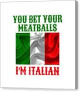 Funny Italian Flag Canvas Print
